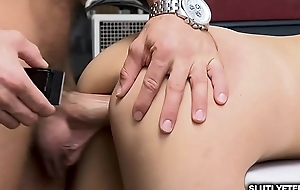 LP Officer makes Emily Willis ride her sweet cum-hole overhead his huge rod!