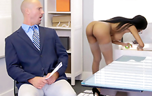 Brittney White receives on be imparted to murder phone with her employee's wife while seducing him