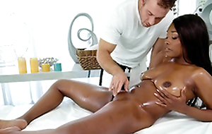 Daya Knight has her pussy massaged and fingered by masseur Chad White
