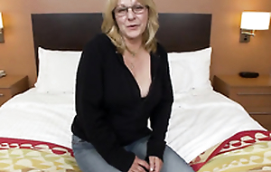 Bush-league old lady first bonks chubby hard cock on cam
