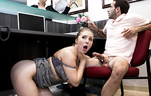 Big-dicked stud gives Lena Paul a supportive dish out