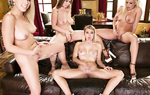 Lena Paul & Zoey Monroe & Luna Star close to chum around with annoy  Girlsway 4Way Homo Squirt Fest!