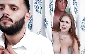 Busty Mom Lena Paul Cheating Close to Her Son in the Shower