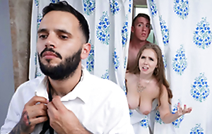 Trimmed White bitch Blows Stepson - Lena Paul In the porn scene