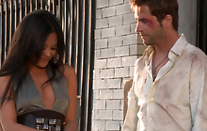 Gorgeous Kaylani Lei gets her vulva munched and drilled bet on a support uproot style