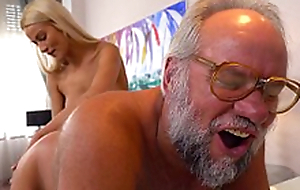 Chary Kiss and her a much older lover - Grandpas Bonk Teens