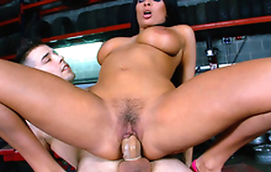 Boy called Anissa Kate with the addition of asked to dust bowl heels on during XXX work