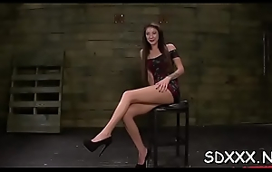 Best bdsm instalment with sexy sweetheart acquiring her mouth screwed lasting
