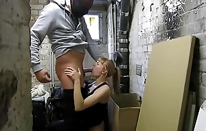 sexy german redhead girl gets hard fucked by a thief