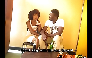 Cute African Amateur Legal age teenager Fucks Her Boss In Toilet