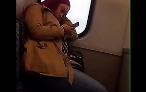 Cute candid nefarious on train
