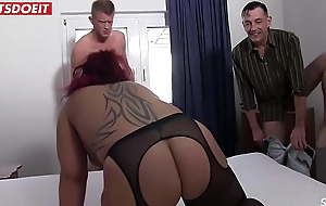 German bungler slutty wife gets workaday with a Stranger