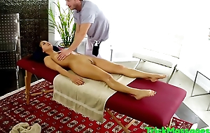 Massaged beauty plowed on on all sides of fours