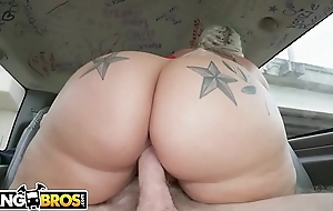 BANGBROS - Social Media Celebrity Ashley Barbie Bring Her Big Ass On The Bang Bus