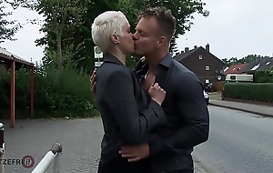 HITZEFREI Big knocker German MILF picked up and fucked indestructible