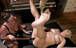 Lesbian employee anal fucked hither situation