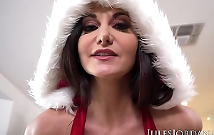 Jules Jordan - Ava Addams, Ho Ho Ho Santa Brought Me Big Confidential For Christmas