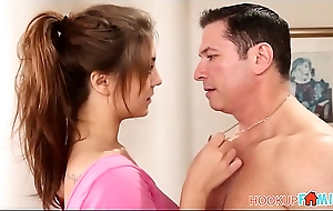 Cute Teen Daughter JoJo Kiss Fucked By Her Dad'_s Best Friend During Wield