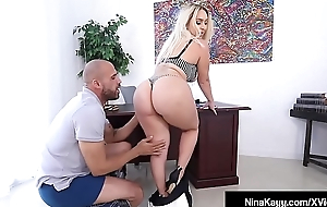 Big Derriere Boss Nina Kayy Bangs Big Black Cock Employee!