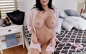 MILF star Jasmine Jae looks remarkable in a fishnet requisites while deepthroating a giant cock with an intensity that only a horny MILF can provide.