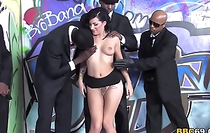 Tori Lux Acquires Her Face Gangbanged By Big Black Cocks